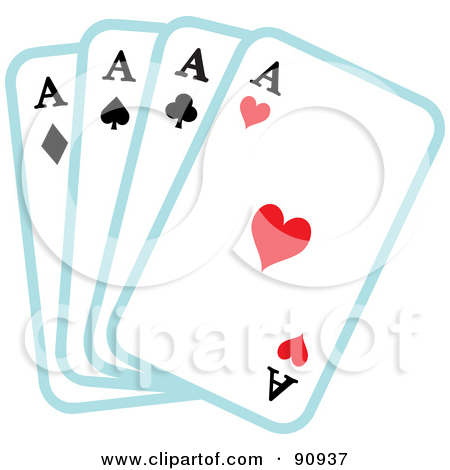 Ace card clip art banner black and white library Royalty-Free (RF) Clipart of Four Aces, Illustrations, Vector ... banner black and white library