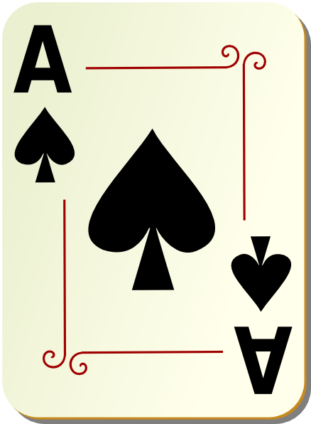 Ace card clip art graphic freeuse Ace Of Spades Playing Card Clipart - Clipart Kid graphic freeuse