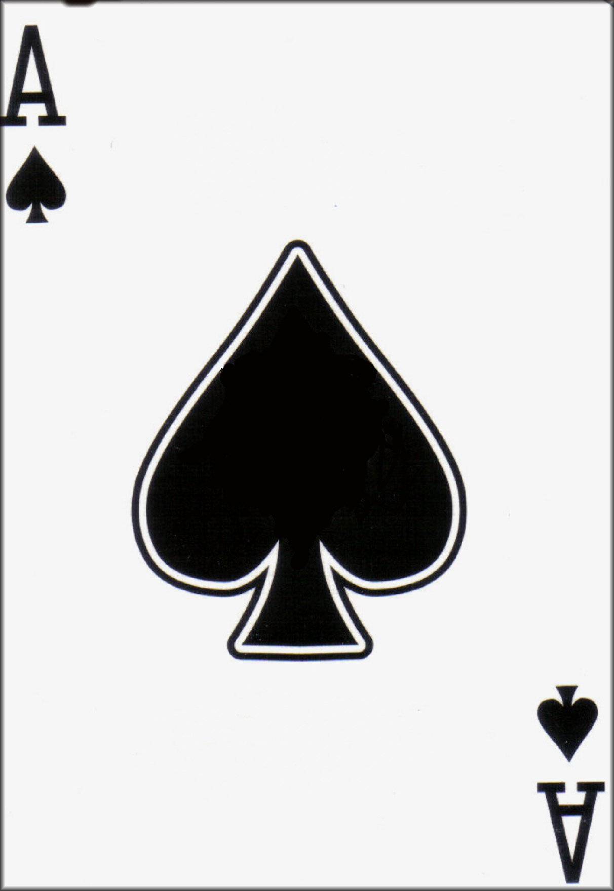 Ace card clip art image black and white Ace Of Spades Playing Card Clipart - Clipart Kid image black and white