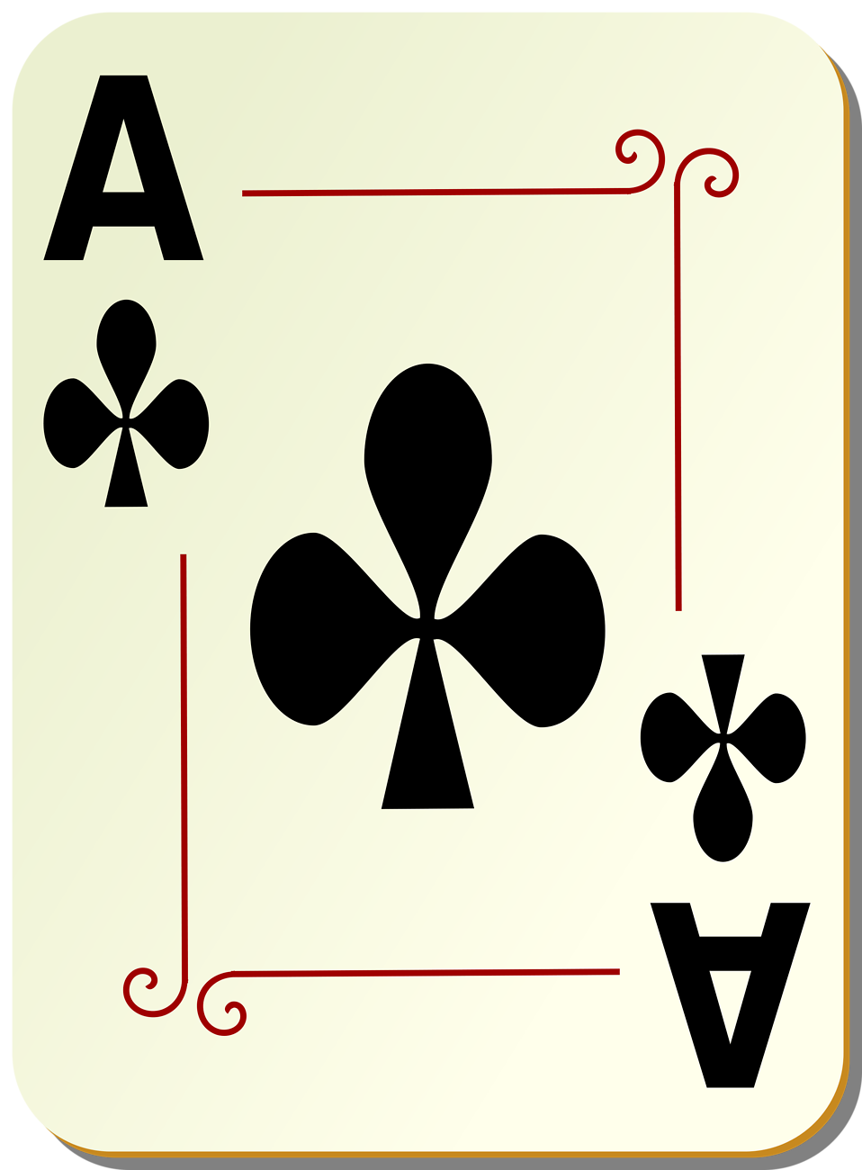 Ace card clip art jpg freeuse library Ace playing card clipart - ClipartFest jpg freeuse library