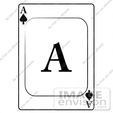 Ace card clip art vector black and white download Ace of Spades Playing Card Clipart | #13265 by DJArt | Royalty ... vector black and white download