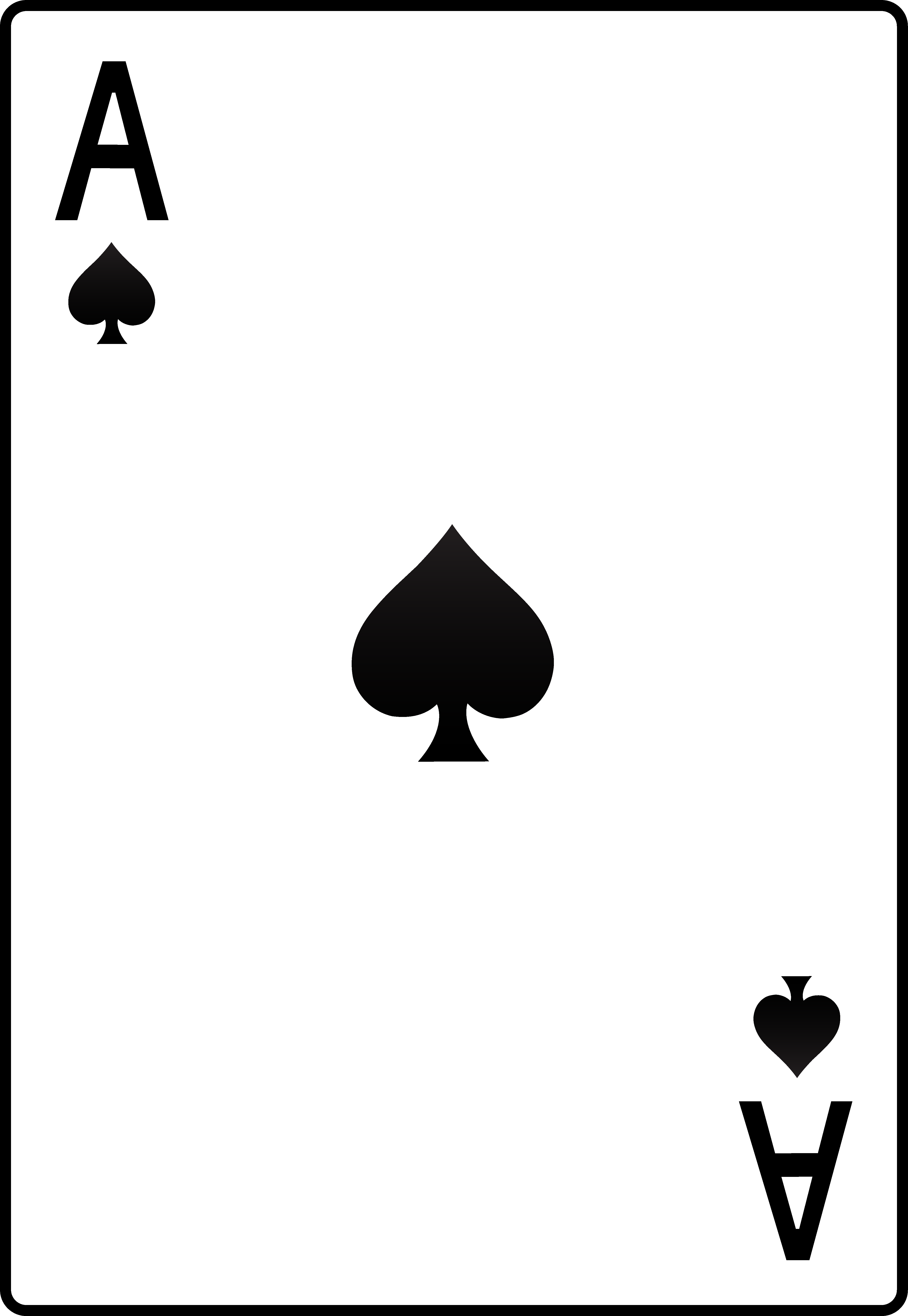 Ace card clipart picture black and white Ace of Spades Playing Card - Free Clip Art picture black and white