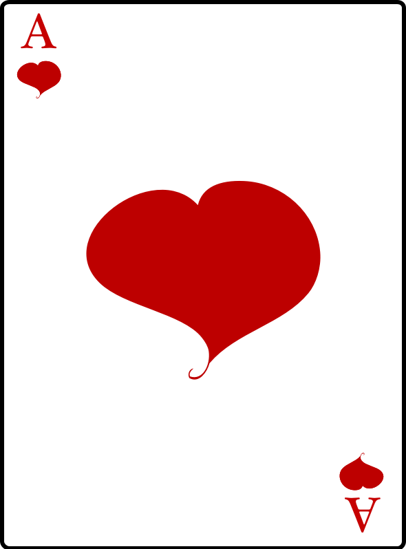 Ace card clipart banner download Clipart - Ace of Hearts banner download
