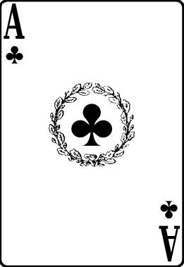 Ace card clipart vector transparent download Ace of clubs clipart - ClipartFest vector transparent download