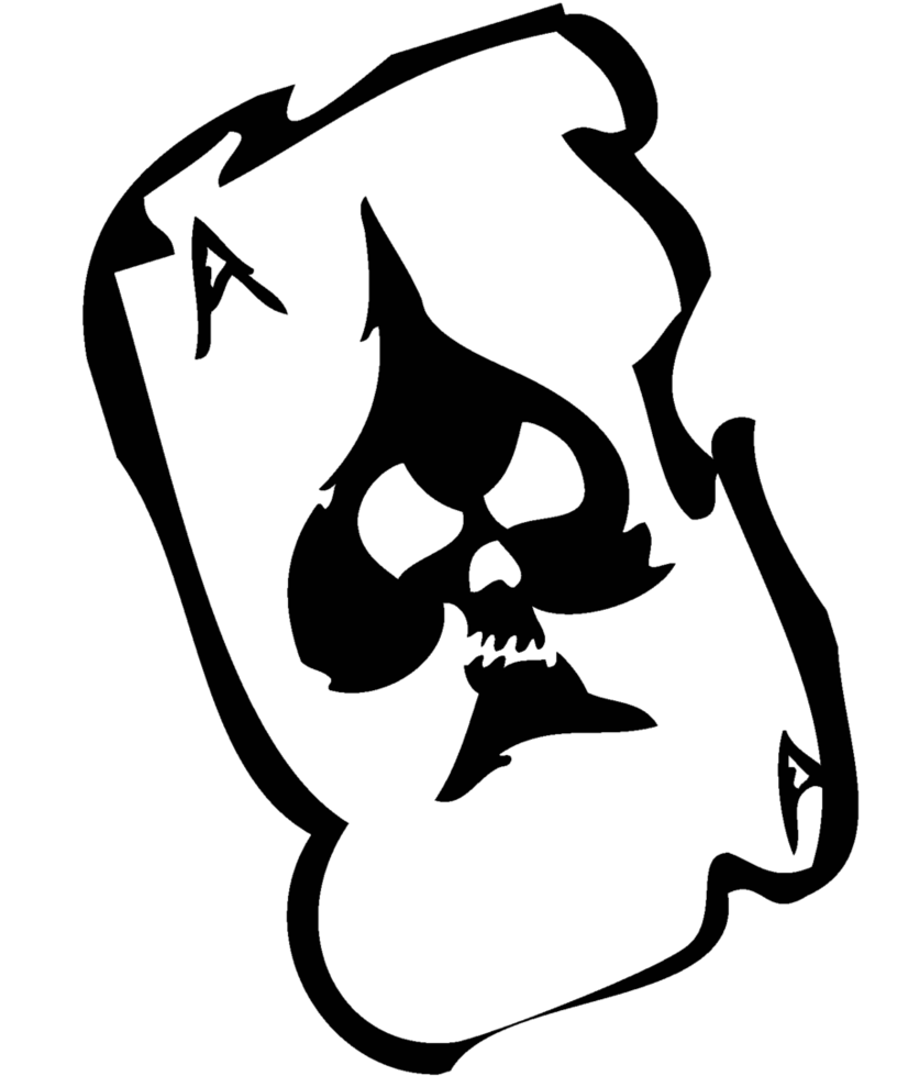 Ace card with money clipart clipart library library Ace of Skulls by Niteshifter on DeviantArt clipart library library