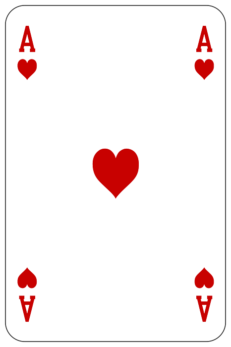 Ace card with money clipart image stock Poker Playing Card Ace Heart Greeting Card for Sale by Miroslav Nemecek image stock