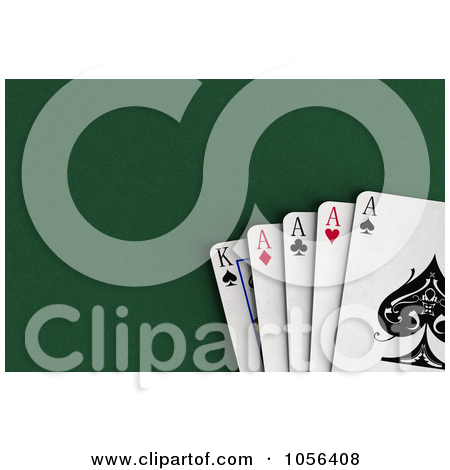 Ace clipart green banner freeuse stock Clipart of a 3d Ace of Hearts Playing Card over a Green Felt ... banner freeuse stock