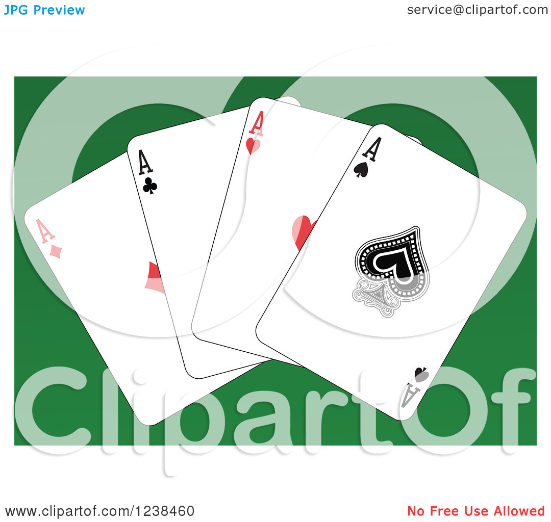 Ace clipart green vector black and white Clipart of Ace Playing Cards on Green - Royalty Free Vector ... vector black and white