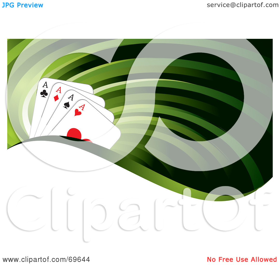 Ace clipart green freeuse stock Royalty-Free (RF) Clipart Illustration of a Green Flow Background ... freeuse stock