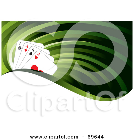 Ace clipart green jpg royalty free download Royalty-Free (RF) Clipart Illustration of a Green Flow Background ... jpg royalty free download
