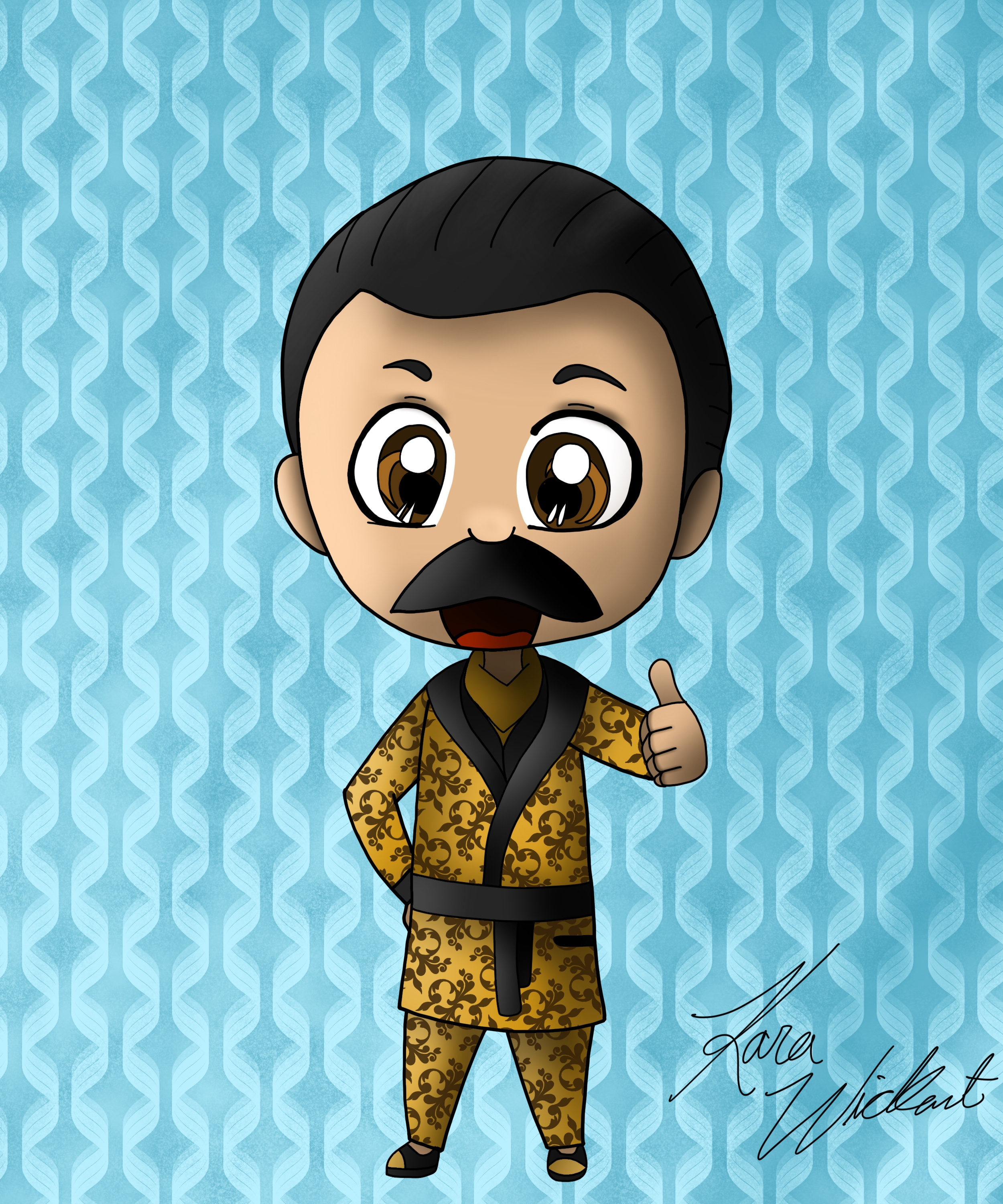 Ace dead by daylight clipart clipart freeuse stock Golden robe Ace chibi commision : deadbydaylight clipart freeuse stock