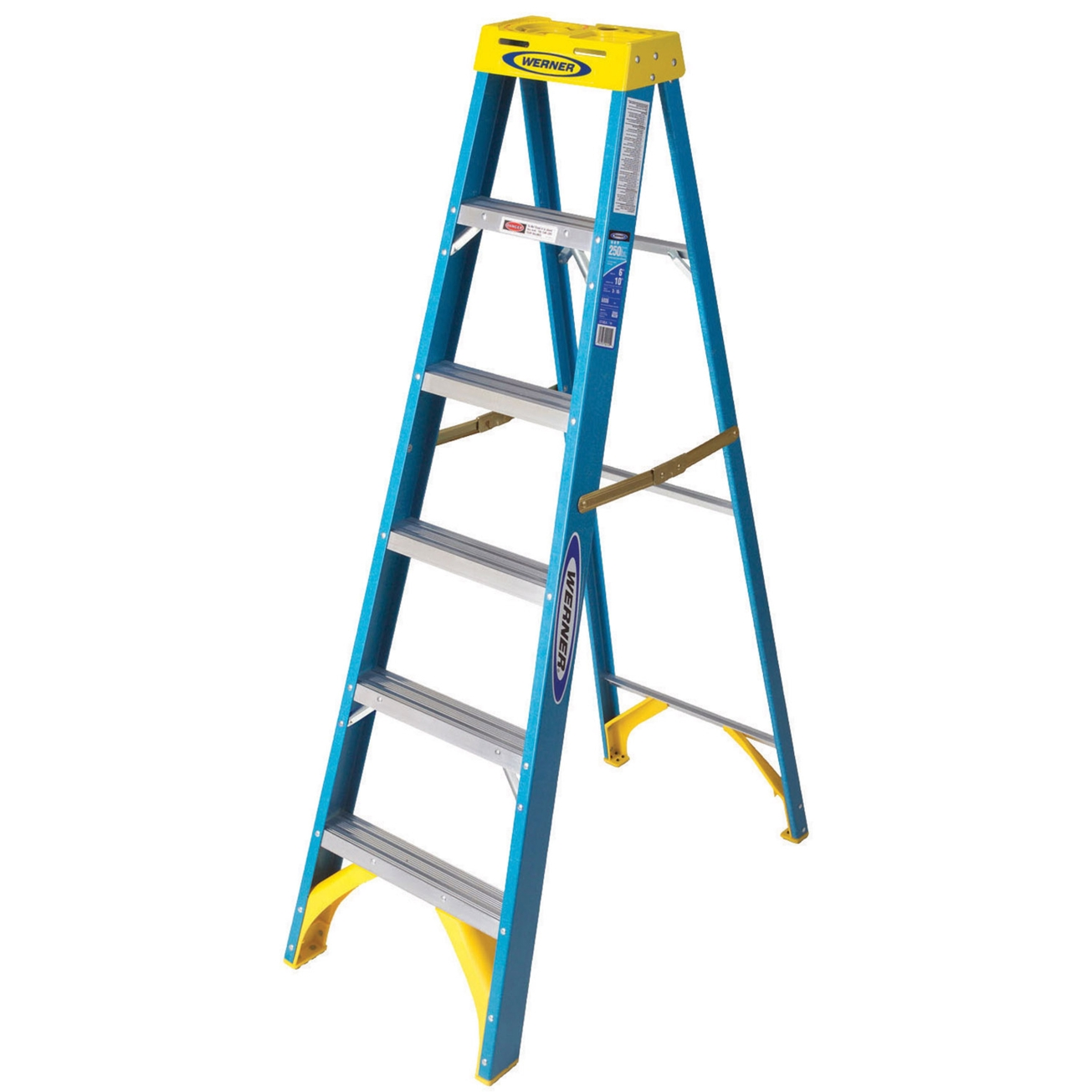 Werner® 6 ft. Type I Fiberglass Step Ladder (6006) - Step Ladders ... banner library stock
