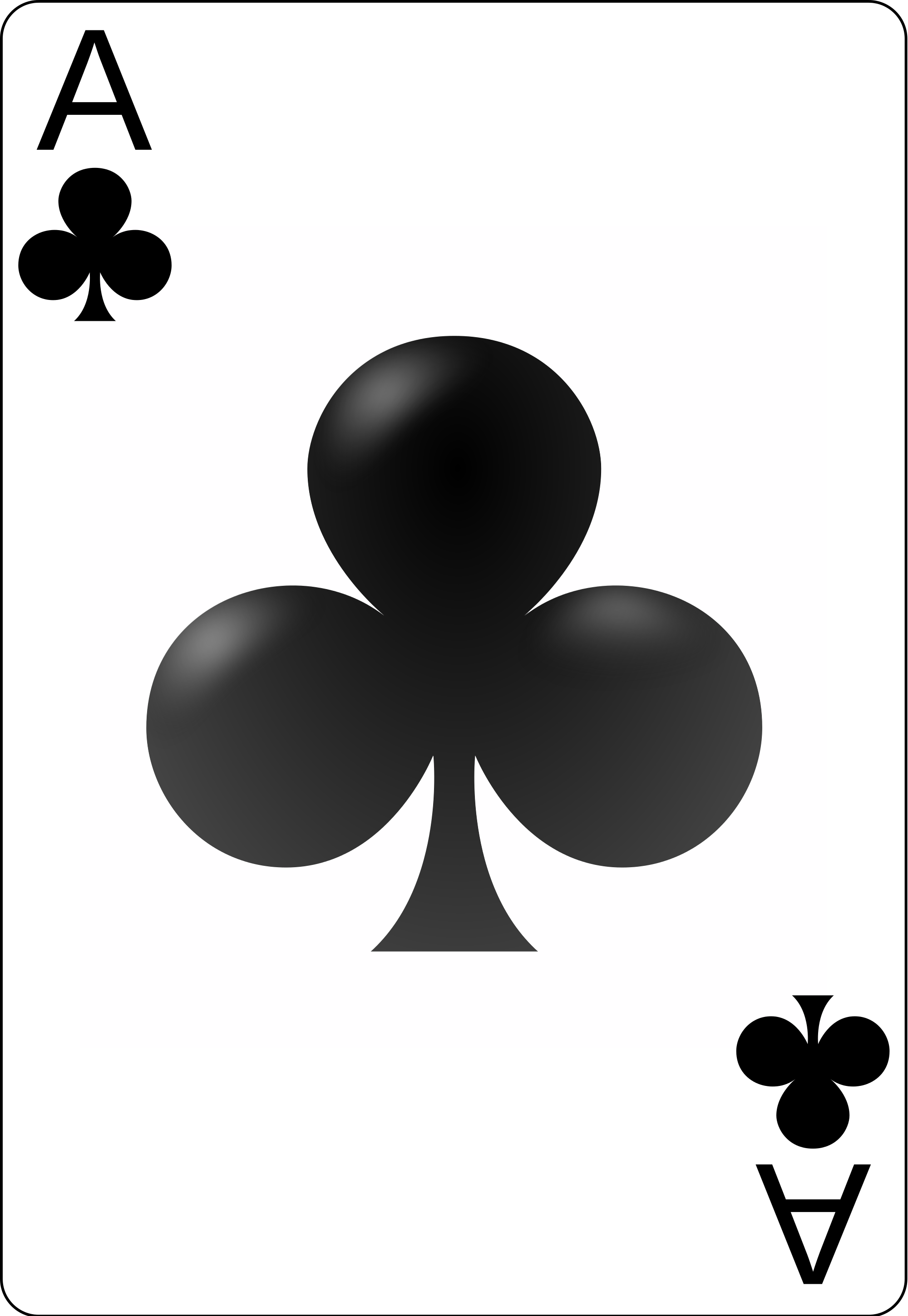 Ace of clubs clipart clipart freeuse download File:Ace of clubs.svg - Wikimedia Commons clipart freeuse download