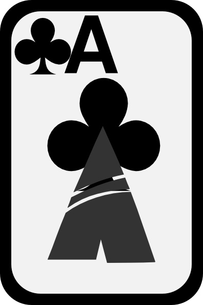 Ace of clubs clipart. Clip art free vector