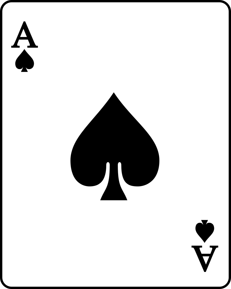 Card clipartfest symbol. Ace of clubs clipart
