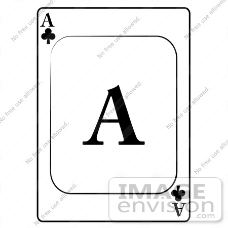 Playing card kid by. Ace of clubs clipart