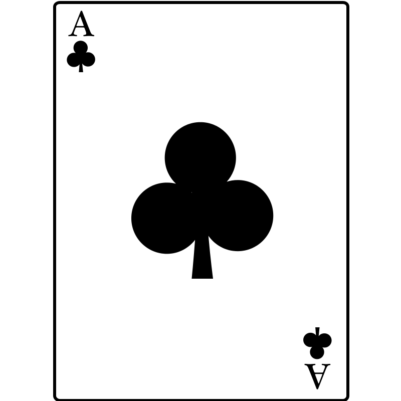 Free freedownloads com . Ace of clubs clipart