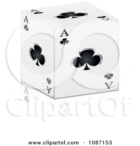 Ace of clubs clipart. Clipartfest d cube