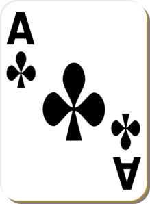 Ace of clubs clipart
