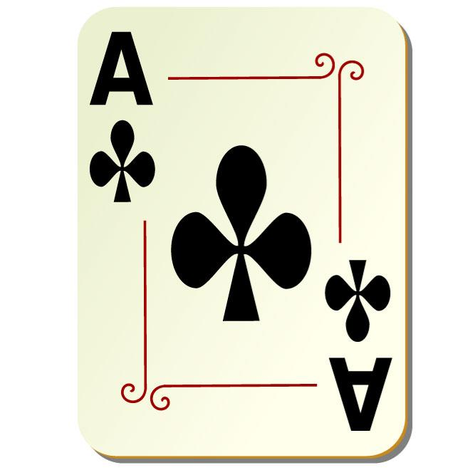 Vector clip art download. Ace of clubs clipart