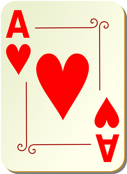 Ace of hearts clipart - ClipartFest clip stock