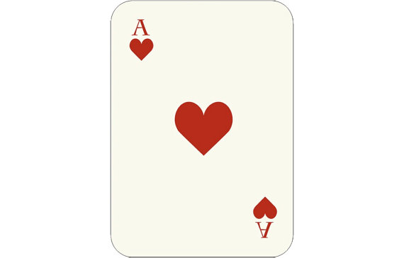 Ace of hearts clip art - ClipartFest clip art black and white