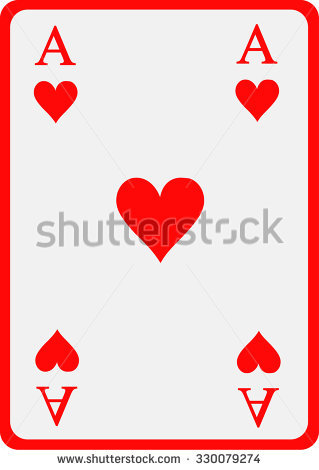 Ace of hearts clipart banner black and white Ace Of Hearts Stock Images, Royalty-Free Images & Vectors ... banner black and white