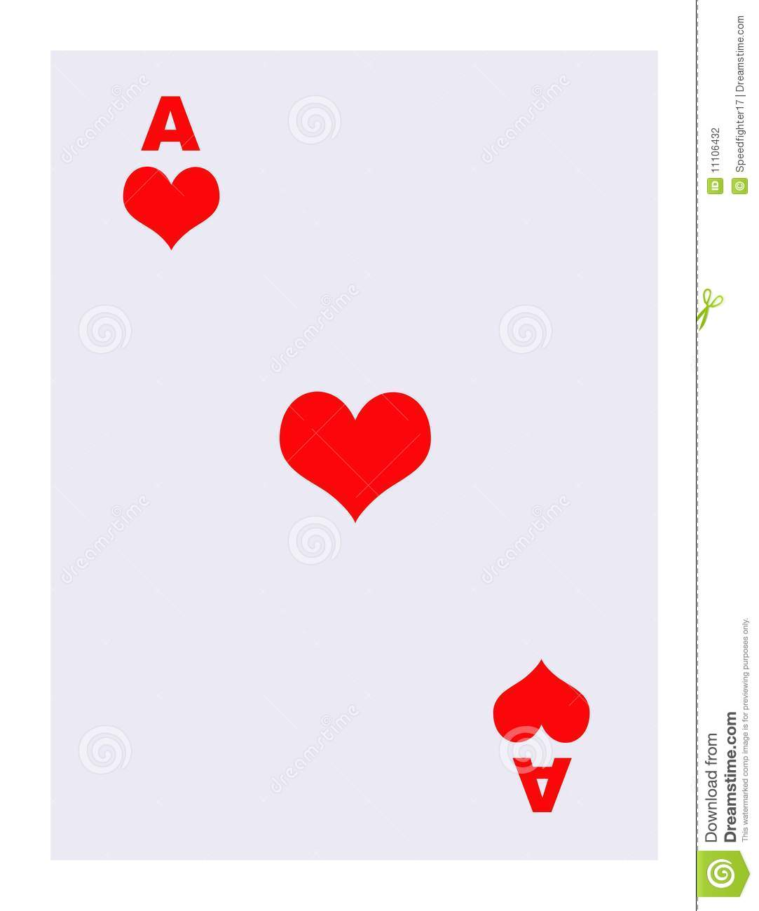 Ace of hearts clipart clip art transparent download Ace Of Hearts Playing Card Stock Photography - Image: 11106432 clip art transparent download