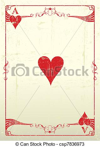 Ace of hearts clipart svg black and white download Vectors of Ace Of Hearts grunge background - Ace Of Hearts with a ... svg black and white download