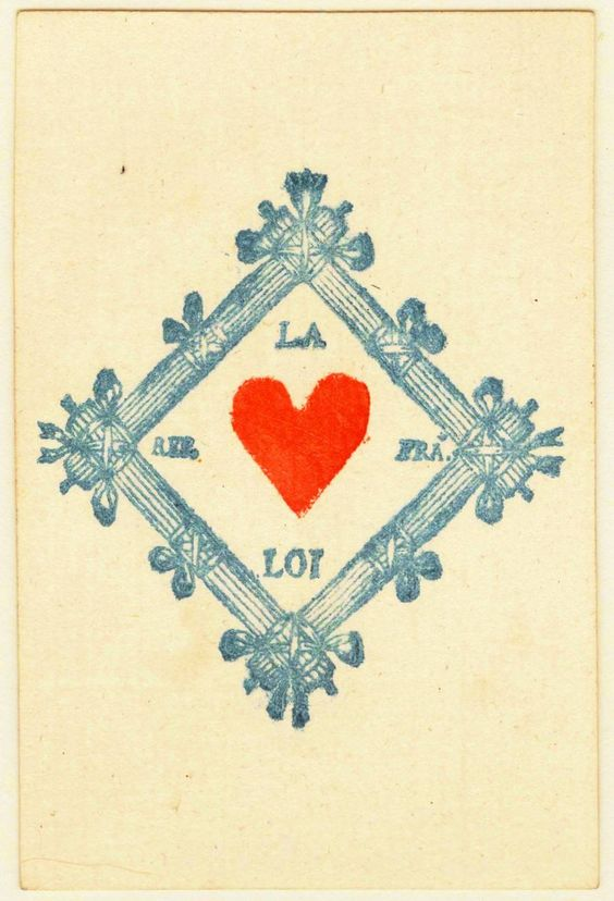 Entertainment - Playing card - Ace of Hearts - French | Clip Art ... picture royalty free stock
