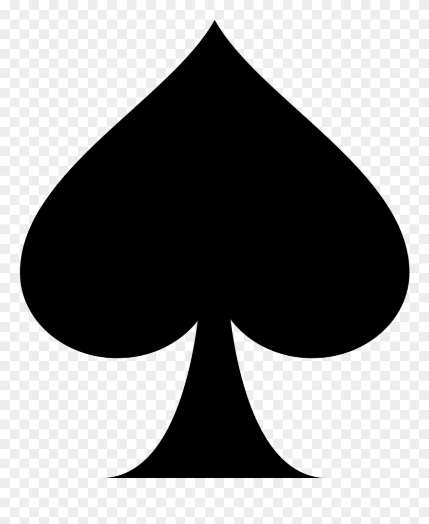 Playing Card Ace Of Spades Suit Clip Art - Ace Of Spades Clipart ... jpg transparent library