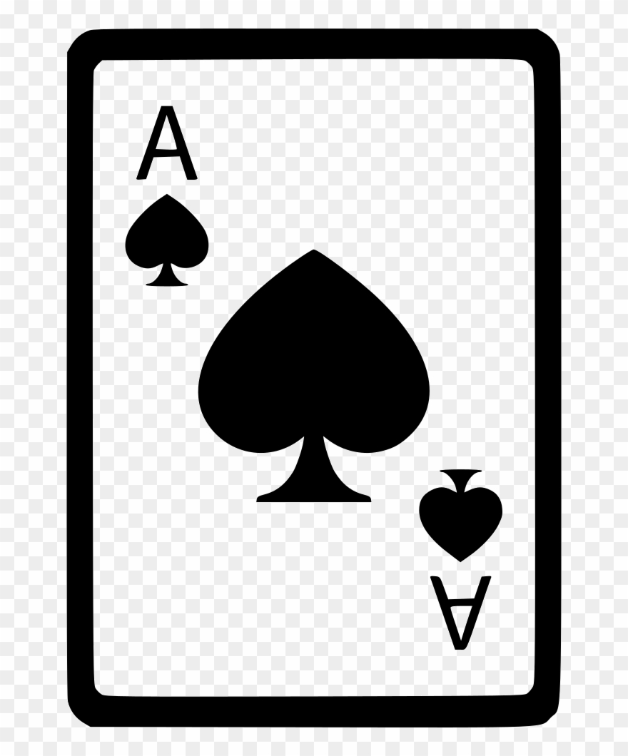 Ace Of Spades Card Poker Comments Clipart (#2268035) - PinClipart jpg free library