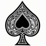 Ace Of Spades Tattoo Designs Clipart - Free Clip Art Images | Aaron ... jpg black and white stock