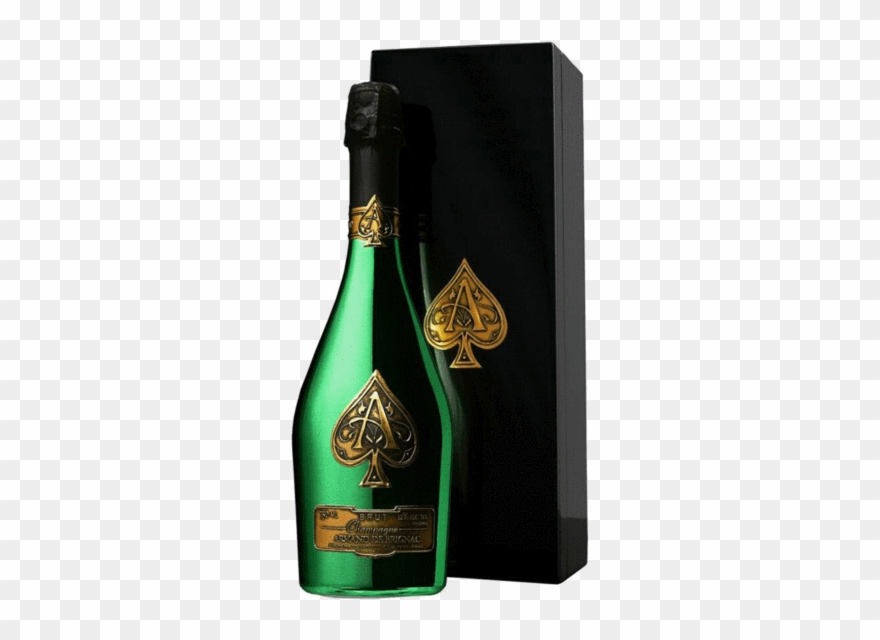 Ace Of Spades Champagne Png Transparent Background - Armand De ... clipart library stock