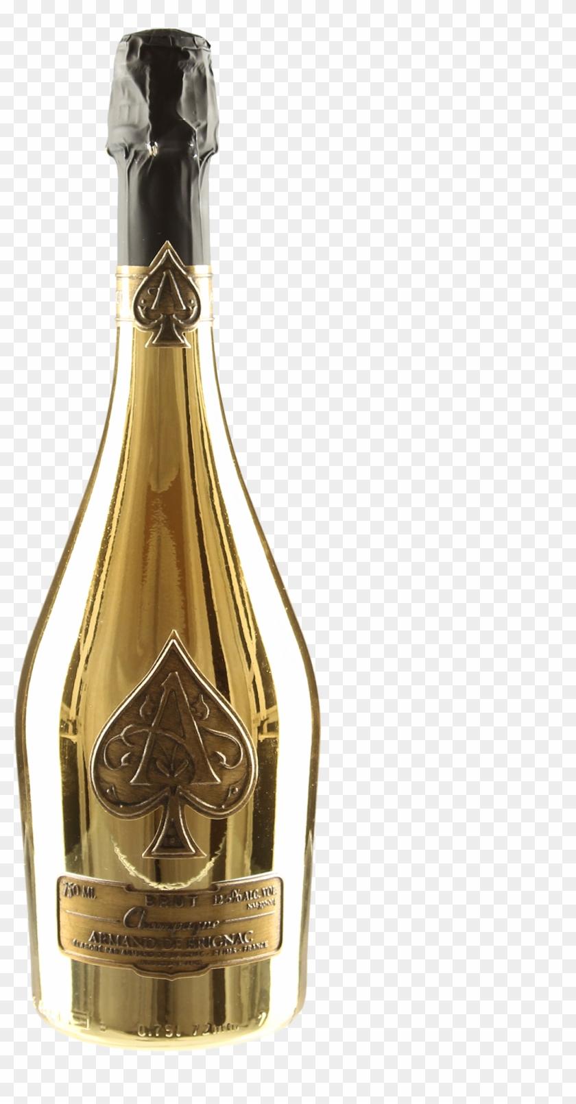 Ace Of Spade Bottle Png - Gold Ace Of Spades Png, Transparent Png ... png black and white library