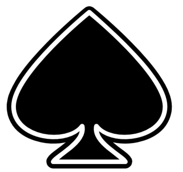 Ace of spades clip art. Playing card clipart kid