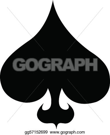 Spade royalty free gograph. Ace of spades clip art