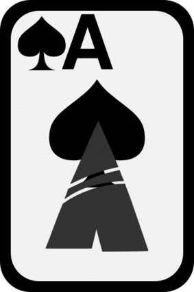 Ace Of Spades clip art | free vectors | UI Download vector royalty free library