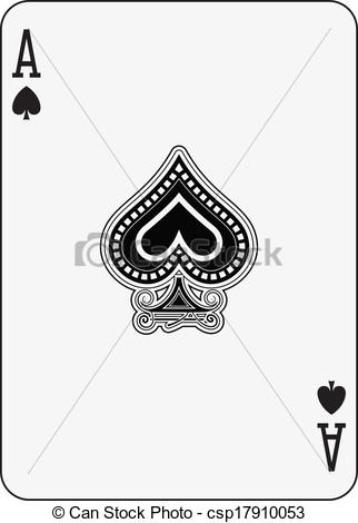 Illustrations and clip art. Ace of spades clipart