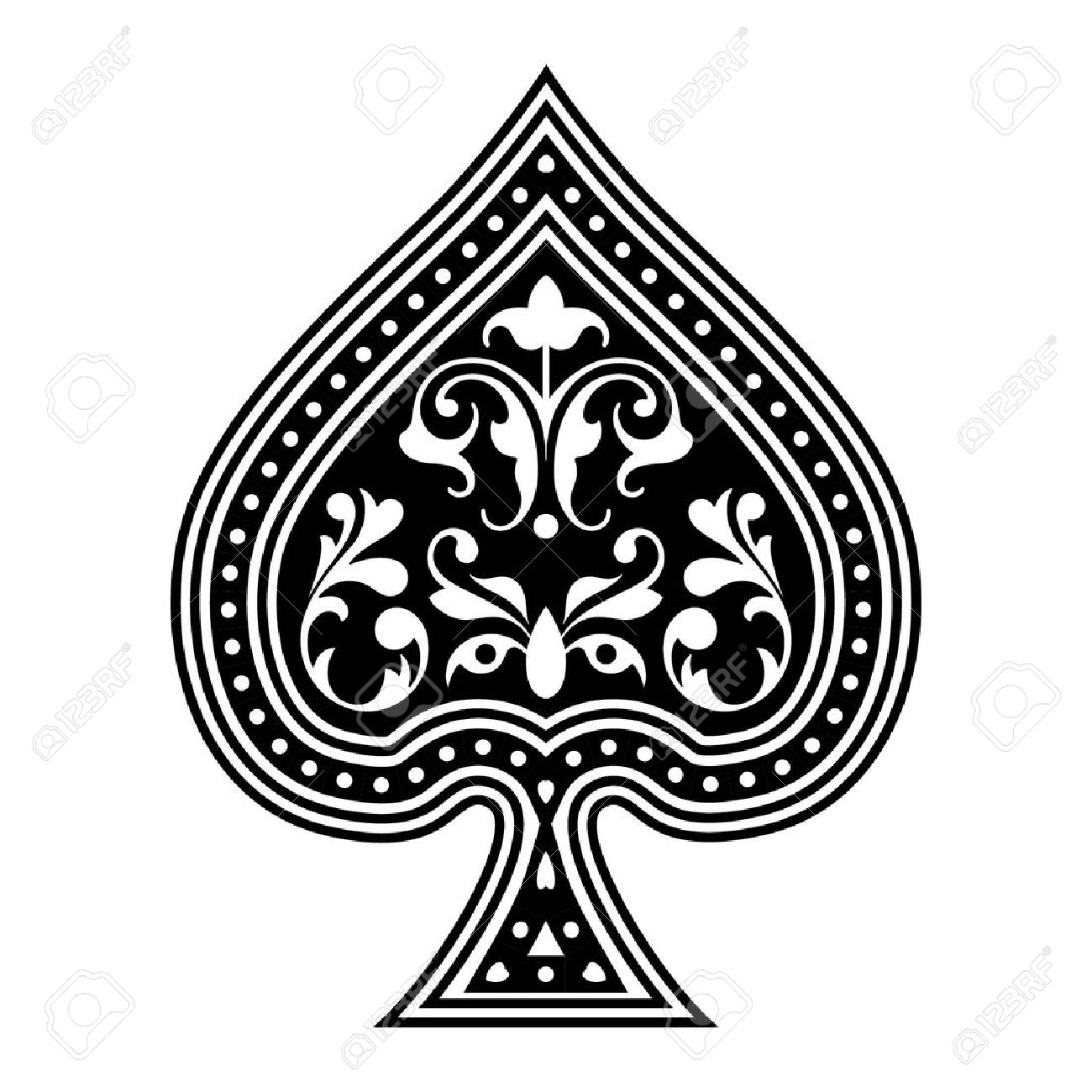 5,202 Ace Of Spades Stock Illustrations, Cliparts And Royalty Free ... png transparent stock