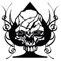 Skull Ace of Spades Tribal stock vectors - Clipart.me transparent