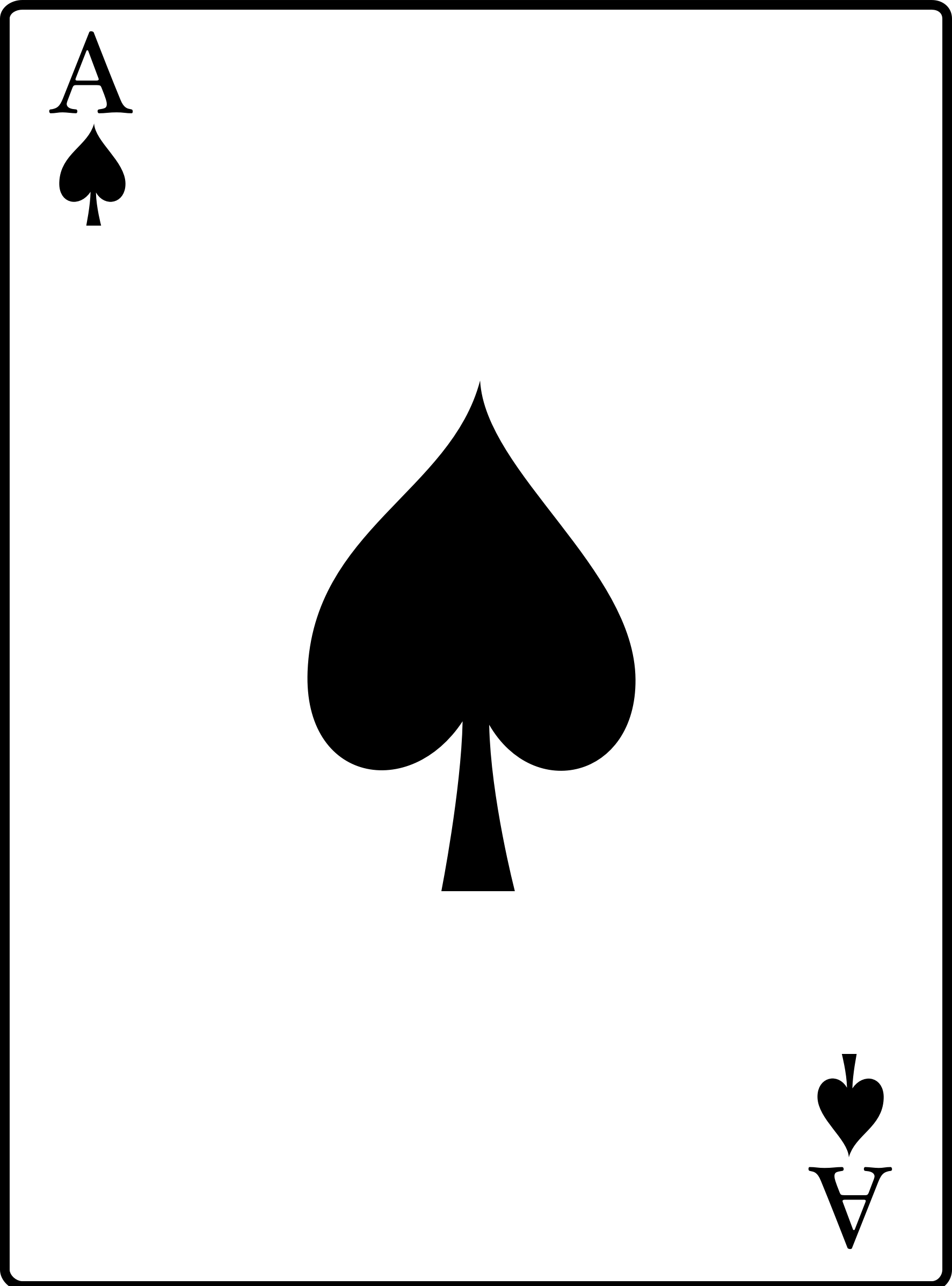 . Ace of spades clipart