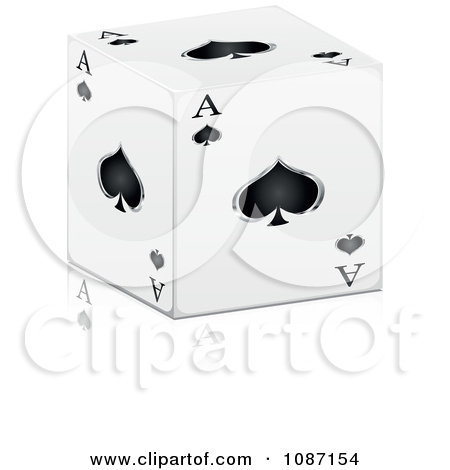 D black and white. Ace of spades clipart eyes