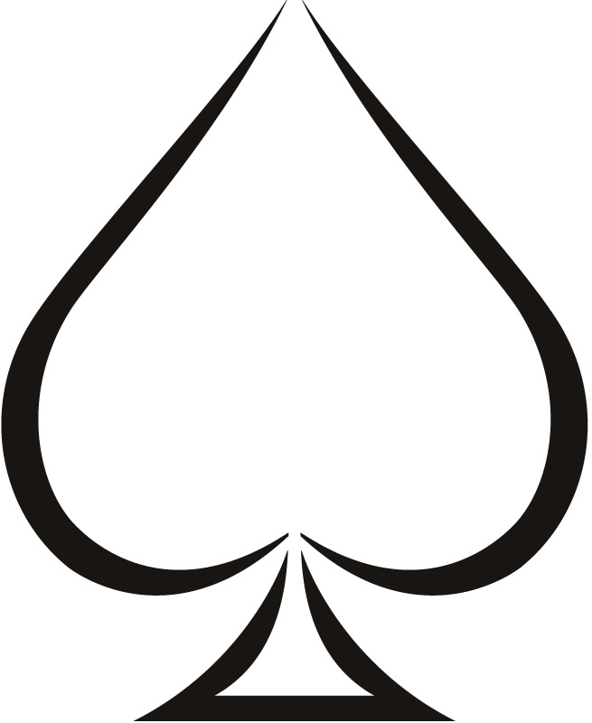 Ace of spades clipart eyes. Making crests for free