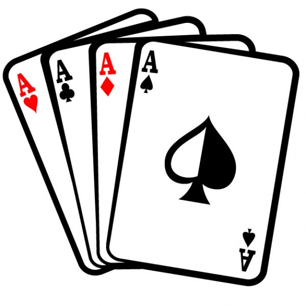 Four aces poker cards. Ace playing card clipart