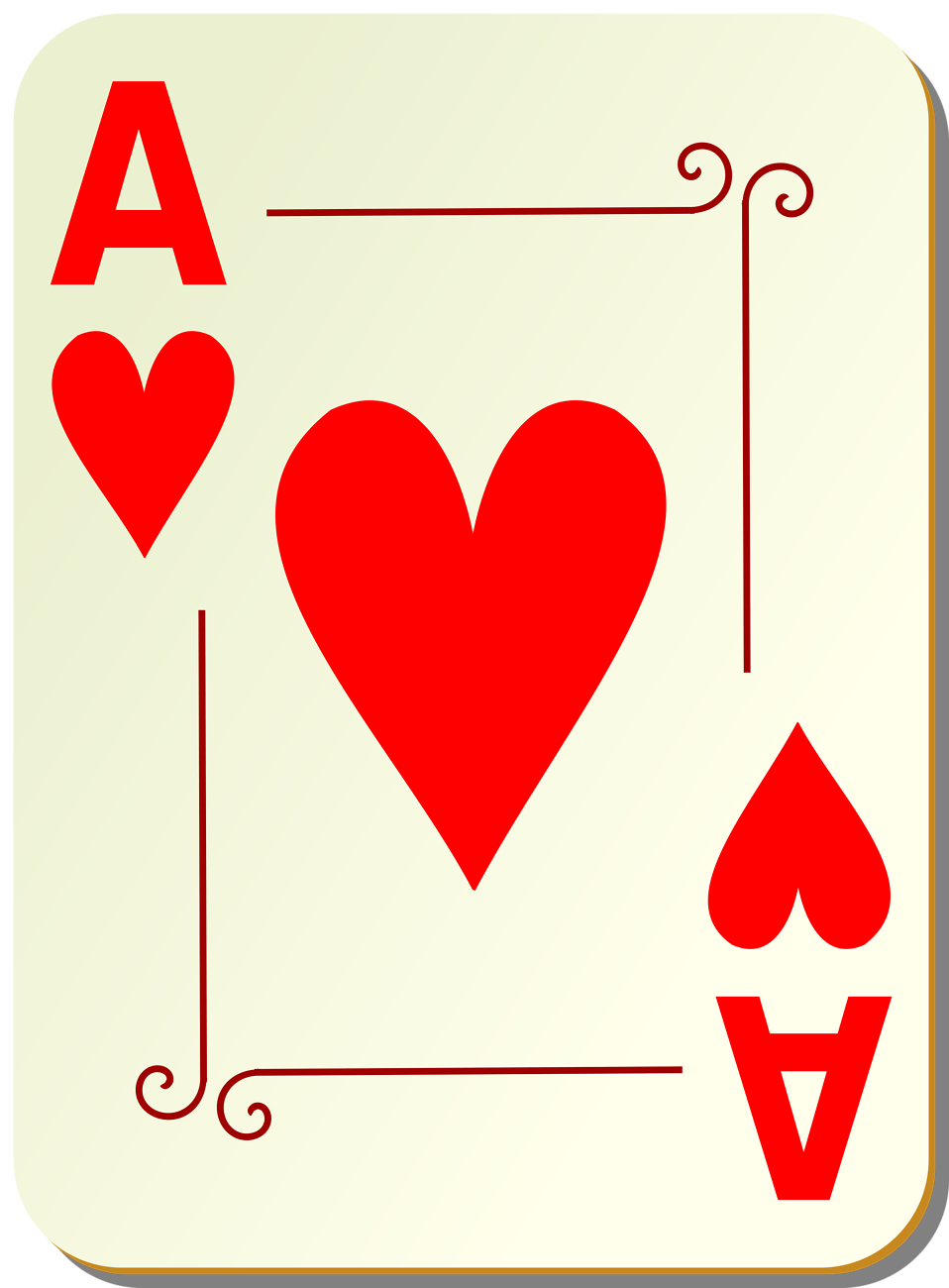 Ace playing card clipart. Cards free stock photo