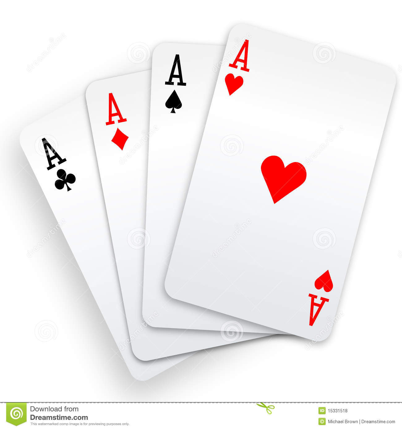 Aces cards black and. Ace playing card clipart