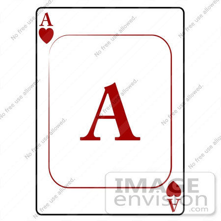 Ace playing card clipart. Of hearts by djart