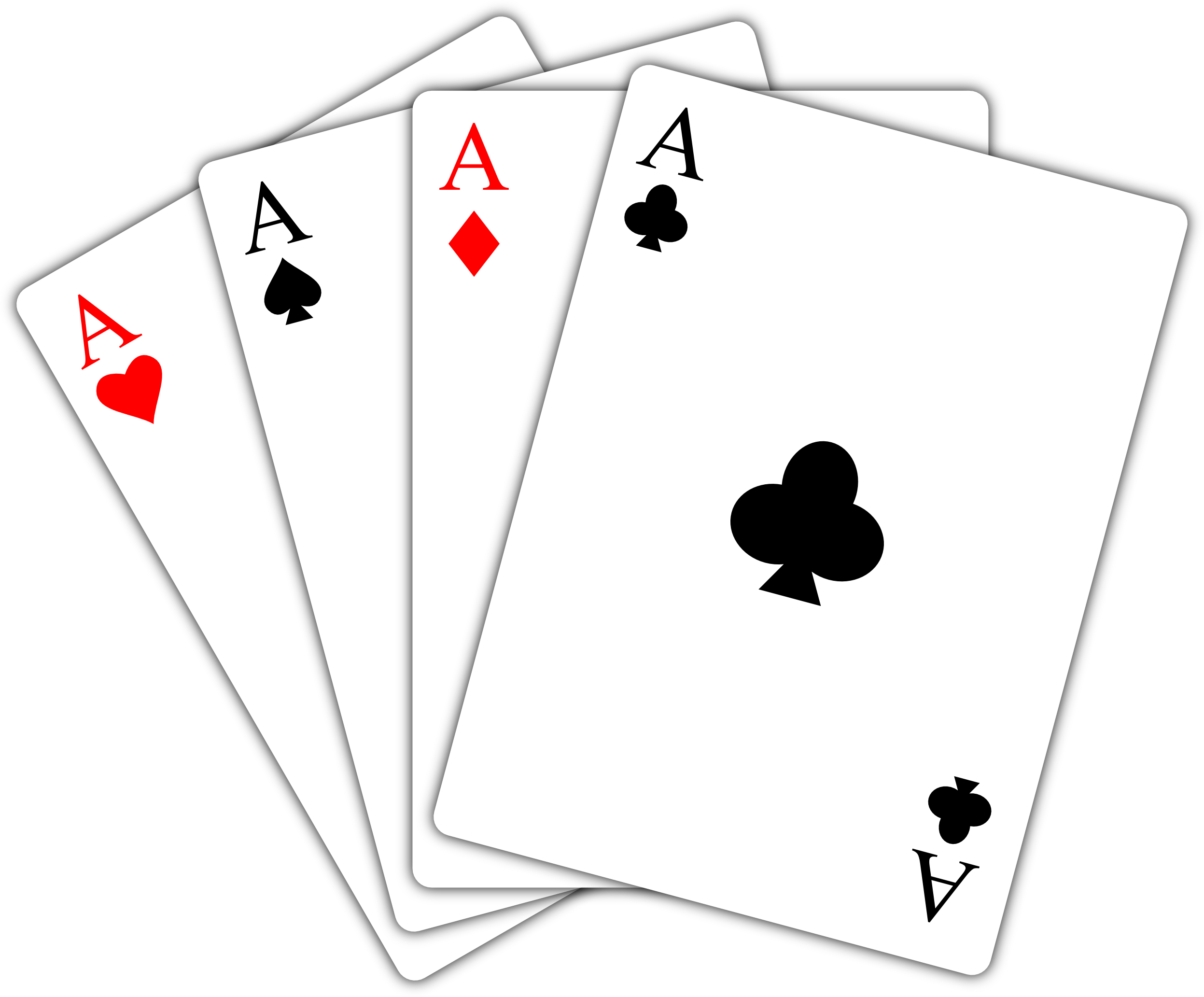 Ace Playing Card PNG | PNG Mart clipart black and white stock