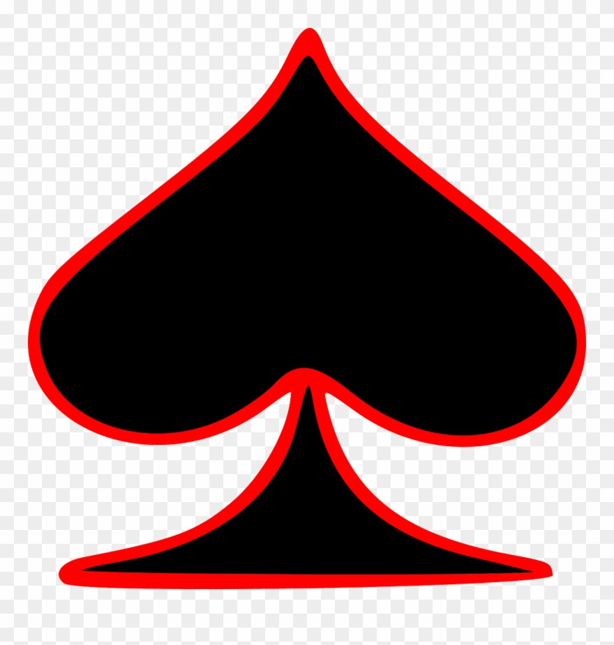 Ace playing cards clipart free svg royalty free download Free Clipart Outlined Spade Playing Card Symbol Gr8dan - Ace Playing ... svg royalty free download